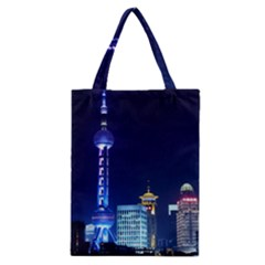 Shanghai Oriental Pearl Tv Tower Classic Tote Bag by BangZart