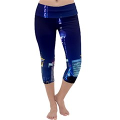 Shanghai Oriental Pearl Tv Tower Capri Yoga Leggings