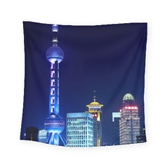 Shanghai Oriental Pearl Tv Tower Square Tapestry (small)