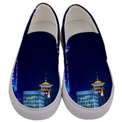 Shanghai Oriental Pearl Tv Tower Men s Canvas Slip Ons