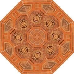 Symbolism Paneling Oriental Ornament Pattern Straight Umbrellas by BangZart
