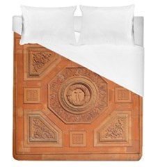 Symbolism Paneling Oriental Ornament Pattern Duvet Cover (queen Size) by BangZart