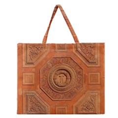 Symbolism Paneling Oriental Ornament Pattern Zipper Large Tote Bag by BangZart