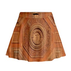 Symbolism Paneling Oriental Ornament Pattern Mini Flare Skirt