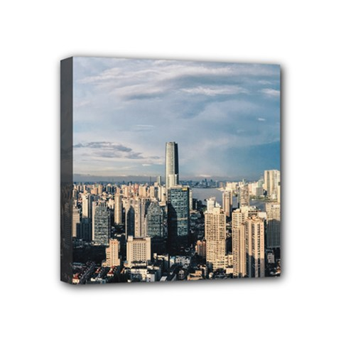 Shanghai The Window Sunny Days City Mini Canvas 4  X 4  by BangZart