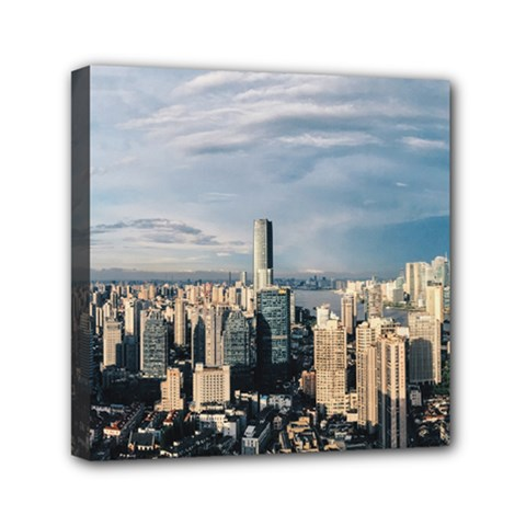 Shanghai The Window Sunny Days City Mini Canvas 6  X 6  by BangZart