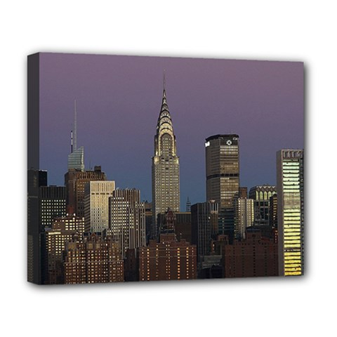 Skyline City Manhattan New York Deluxe Canvas 20  X 16