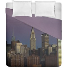 Skyline City Manhattan New York Duvet Cover Double Side (california King Size)