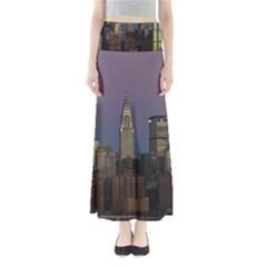 Skyline City Manhattan New York Full Length Maxi Skirt