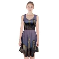 Skyline City Manhattan New York Racerback Midi Dress