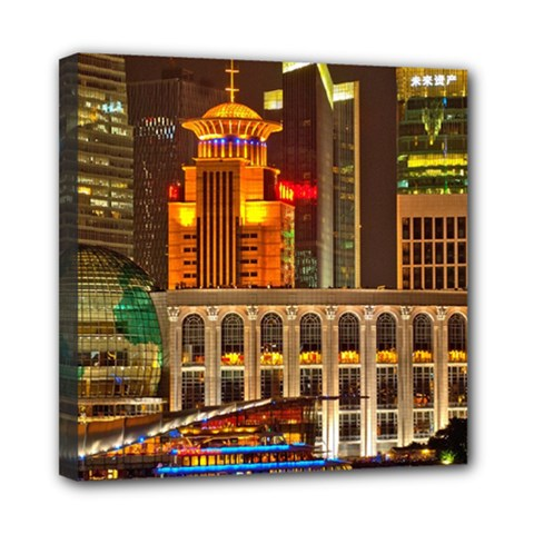 Shanghai Skyline Architecture Mini Canvas 8  X 8  by BangZart