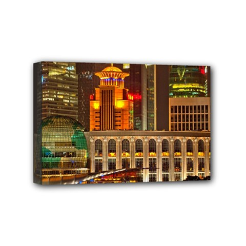 Shanghai Skyline Architecture Mini Canvas 6  X 4