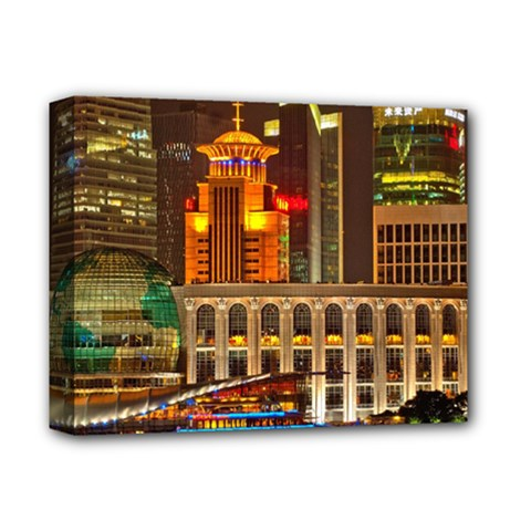 Shanghai Skyline Architecture Deluxe Canvas 14  X 11  by BangZart