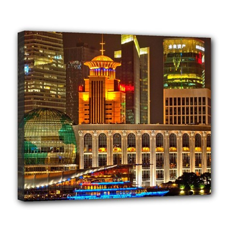 Shanghai Skyline Architecture Deluxe Canvas 24  X 20