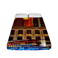 Shanghai Skyline Architecture Fitted Sheet (full/ Double Size)