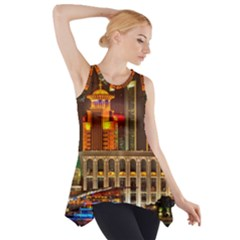 Shanghai Skyline Architecture Side Drop Tank Tunic