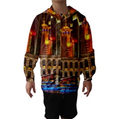 Shanghai Skyline Architecture Hooded Wind Breaker (kids)