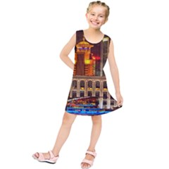 Shanghai Skyline Architecture Kids  Tunic Dress