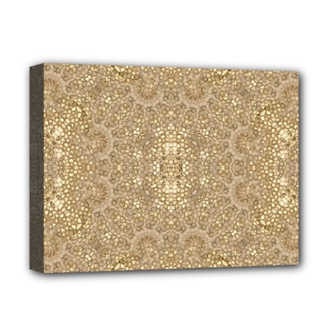 Ornate Golden Baroque Design Deluxe Canvas 16  X 12   by dflcprints