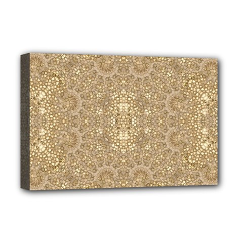 Ornate Golden Baroque Design Deluxe Canvas 18  X 12   by dflcprints