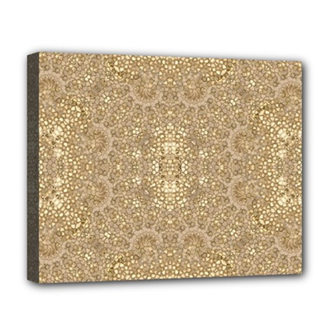 Ornate Golden Baroque Design Deluxe Canvas 20  X 16