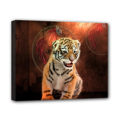 Cute Little Tiger Baby Canvas 10  X 8  by FantasyWorld7