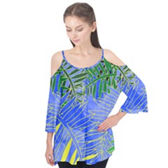 Tropical Palms Flutter Tees by allgirls