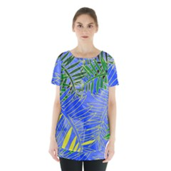 Tropical Palms Skirt Hem Sports Top