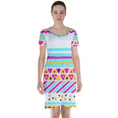 Tribal Short Sleeve Nightdress by allgirls