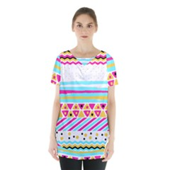 Tribal Skirt Hem Sports Top