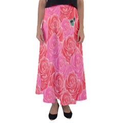 Roses Flared Maxi Skirt by allgirls