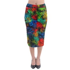 Squiggly Abstract A Midi Pencil Skirt by MoreColorsinLife