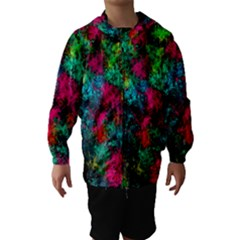 Squiggly Abstract B Hooded Wind Breaker (kids)