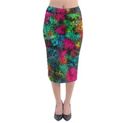Squiggly Abstract B Midi Pencil Skirt by MoreColorsinLife