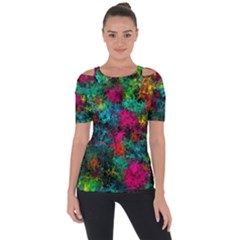 Squiggly Abstract B Short Sleeve Top by MoreColorsinLife