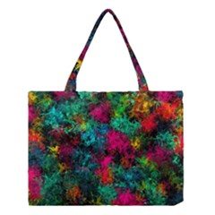 Squiggly Abstract B Medium Tote Bag by MoreColorsinLife
