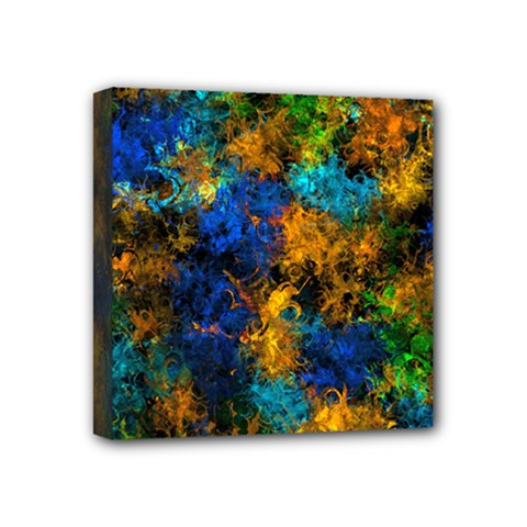 Squiggly Abstract C Mini Canvas 4  X 4  by MoreColorsinLife