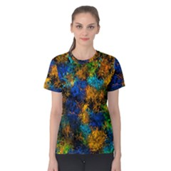 Squiggly Abstract C Women s Cotton Tee by MoreColorsinLife