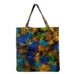 Squiggly Abstract C Grocery Tote Bag by MoreColorsinLife