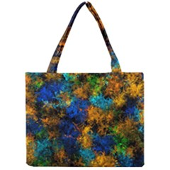 Squiggly Abstract C Mini Tote Bag by MoreColorsinLife