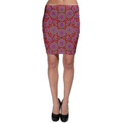Hearts Can Also Be Flowers Such As Bleeding Hearts Pop Art Bodycon Skirt