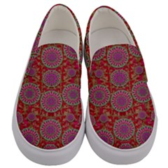 Hearts Can Also Be Flowers Such As Bleeding Hearts Pop Art Men s Canvas Slip Ons