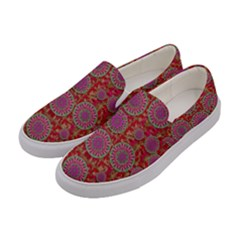 Hearts Can Also Be Flowers Such As Bleeding Hearts Pop Art Women s Canvas Slip Ons by pepitasart