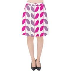 Pink Waves Velvet High Waist Skirt