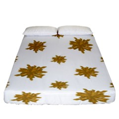 Graphic Nature Motif Pattern Fitted Sheet (king Size) by dflcprints