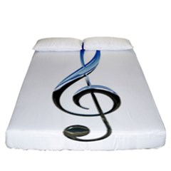 Musical Note  Fitted Sheet (california King Size)