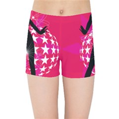 Sexy Lady Kids Sports Shorts by Photozrus
