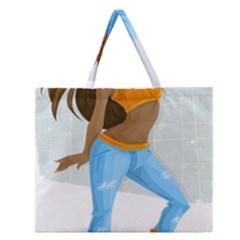 Sexy Woman Zipper Large Tote Bag by Photozrus