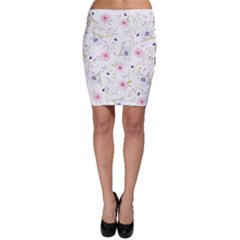 Floral Cute Girly Pattern Bodycon Skirt by paulaoliveiradesign