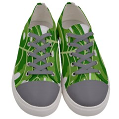 Green Leaf Women s Low Top Canvas Sneakers